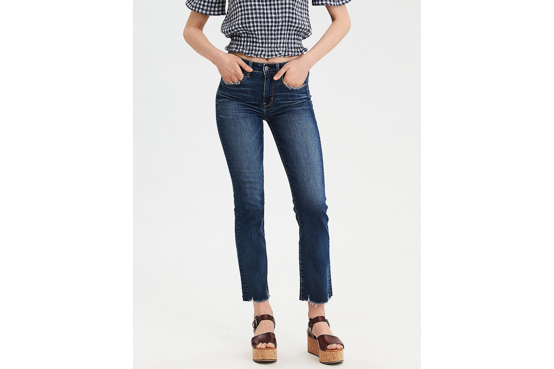c811e55d5e Ne(X)t Level High-Waisted Crop Flare Jean