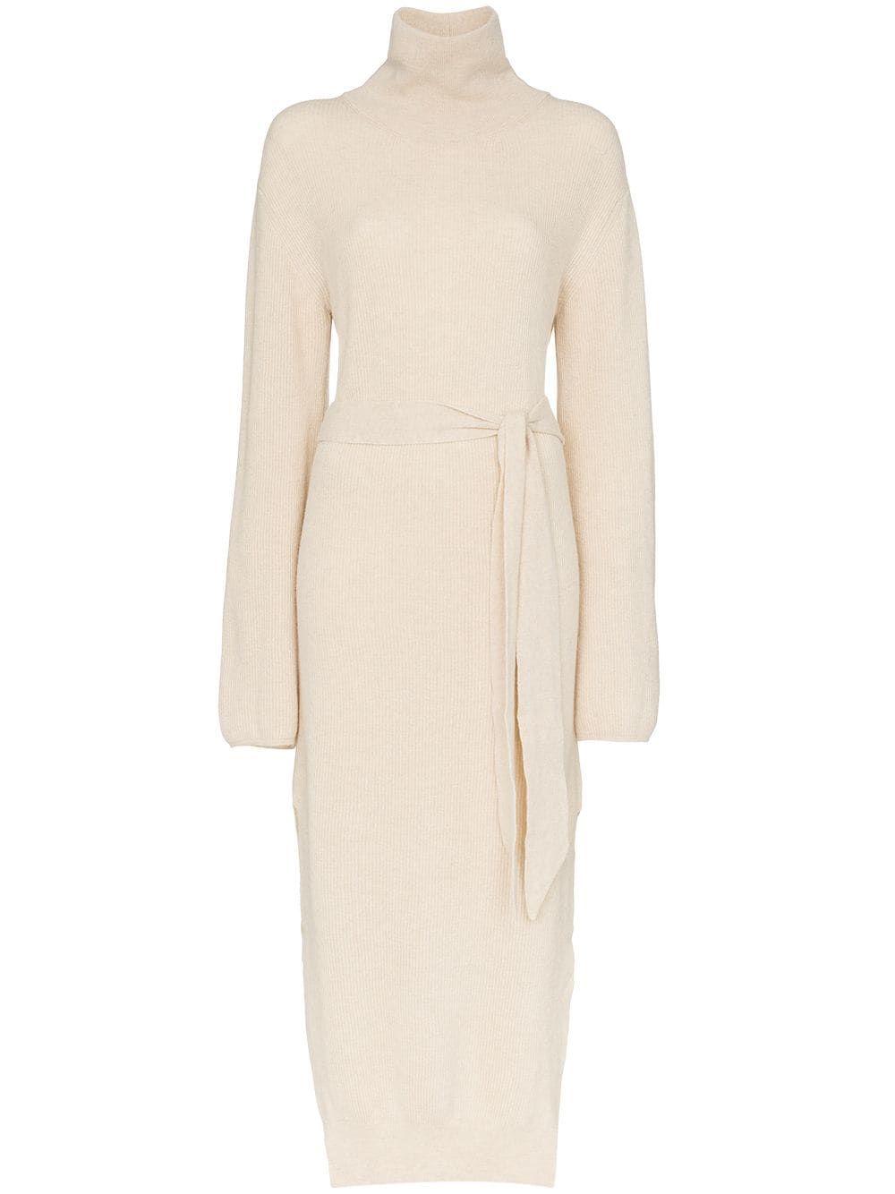 Knit Cashmere Blend Turtleneck Dress
