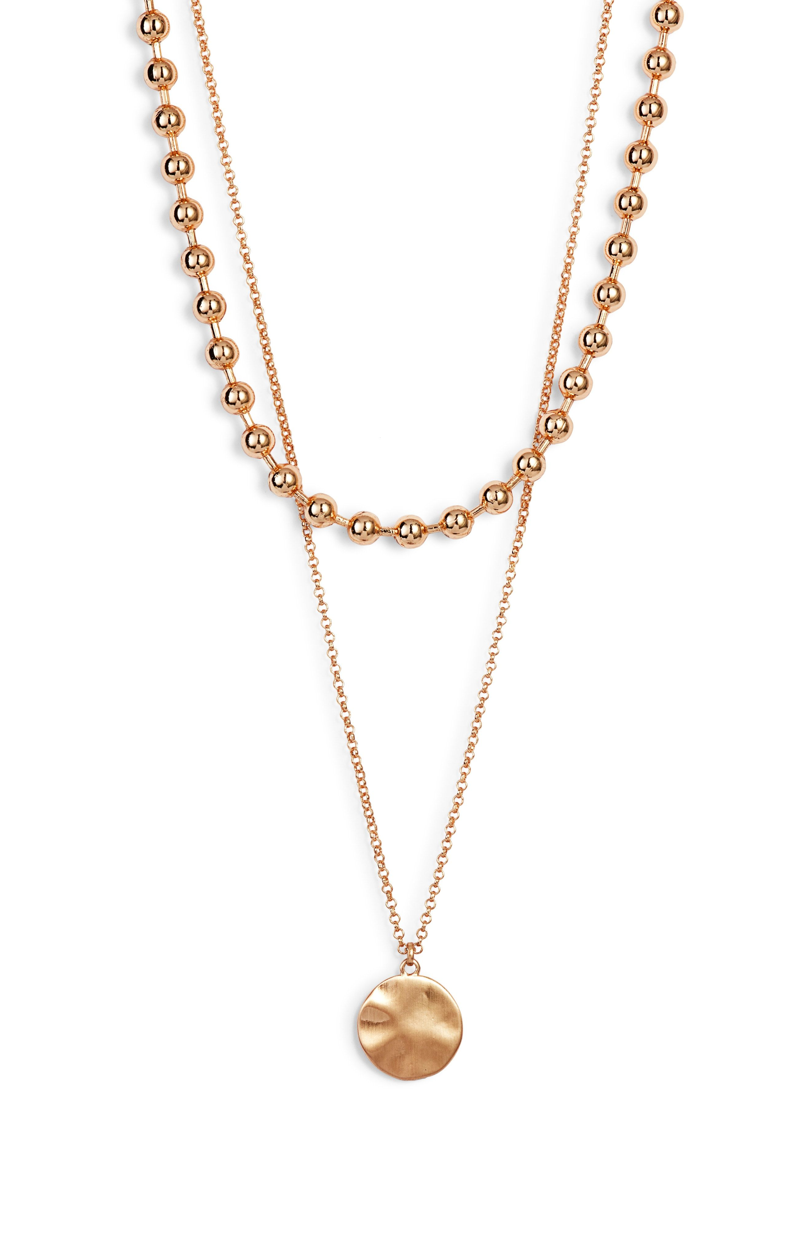 2-in-1 Ball Chain Disc Necklace