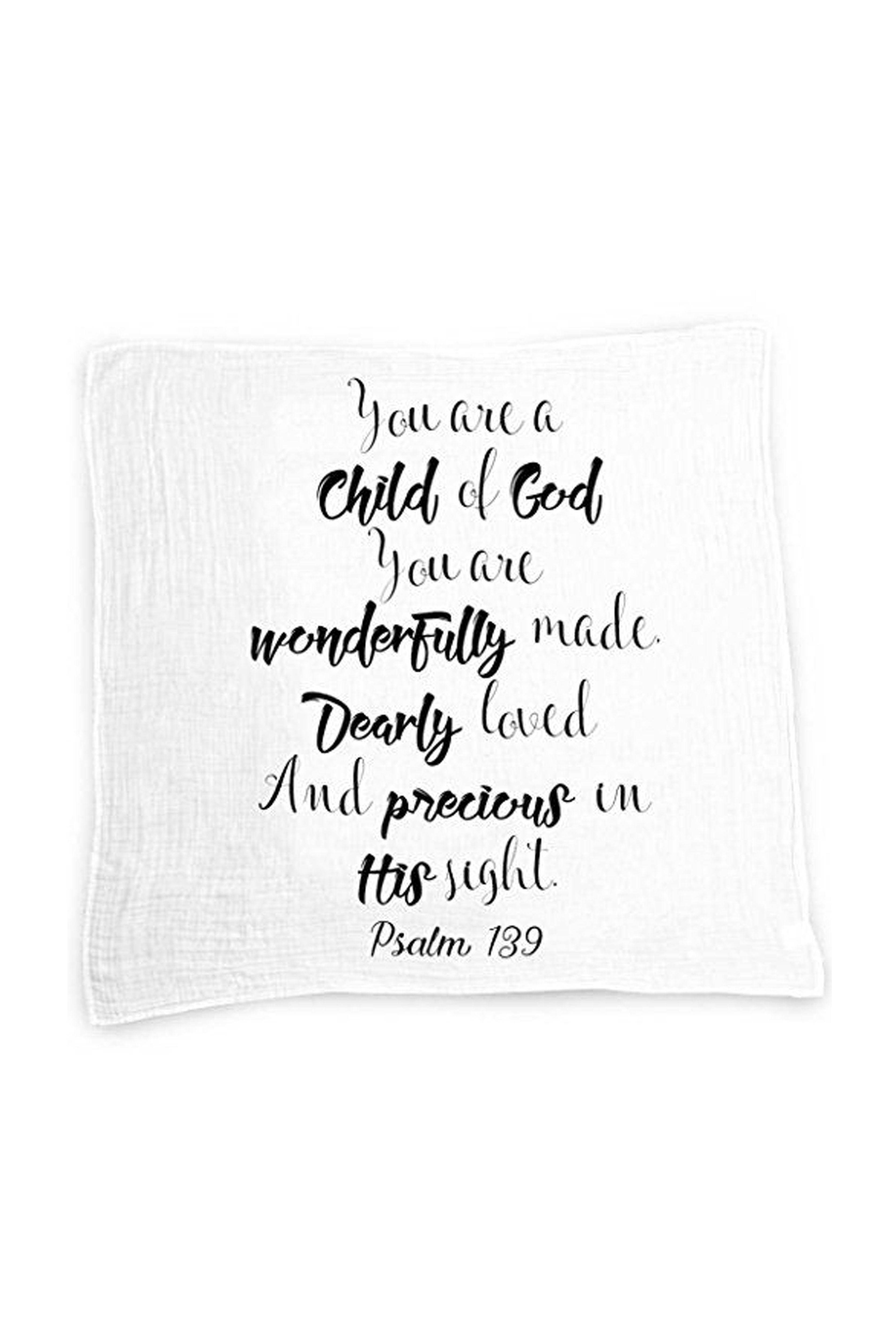 Godchild Gift Quote Baby Swaddle Blanket Christening Gift Baptism Gift for