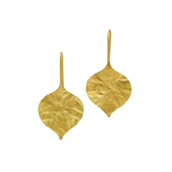 22kt Gold Leaf Earrings