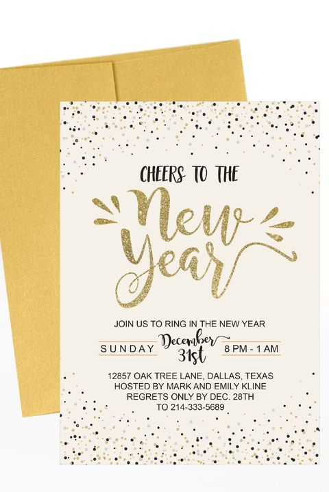 Hadleydesigns New Years Eve Party Invitation Template Etsycom