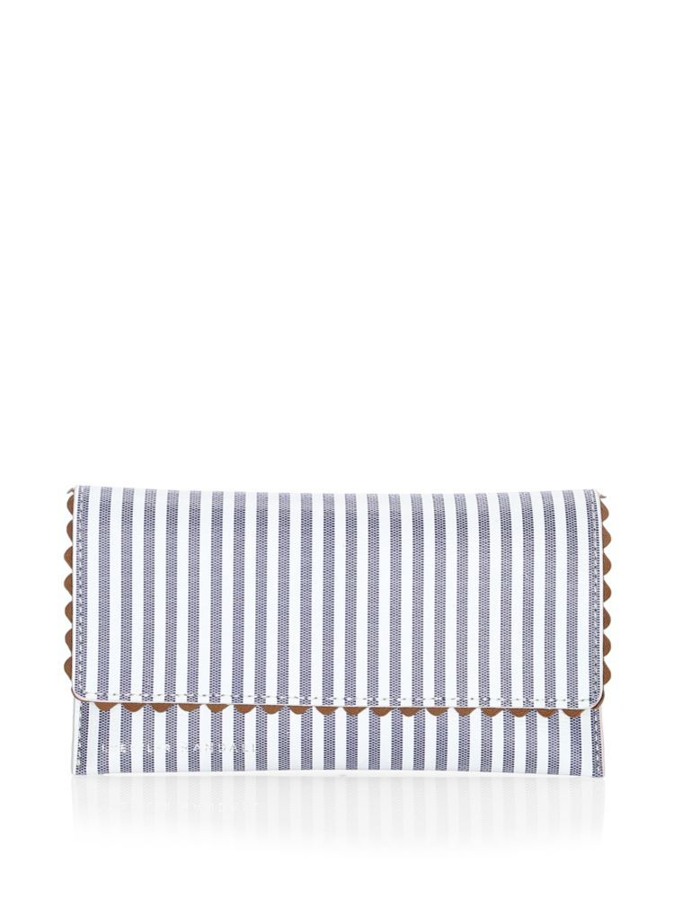 Everything Stripe Leather Wallet