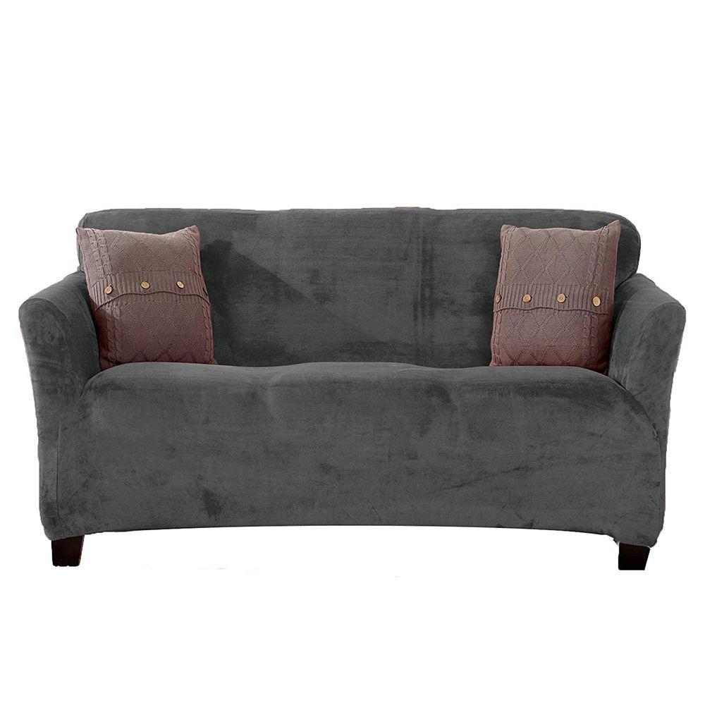 Great Bay Home Modern Velvet Plush Strapless Slipcover