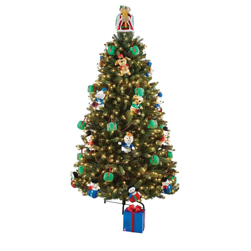 Christmas Trees Images.Artificial Christmas Tree With Musical Animated Plush And Led Illumination