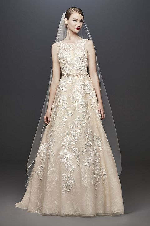 14 Best Gold Wedding Dresses 2021 Sparkly Champagne Wedding Gowns