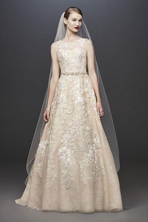 c179df6cb8c91 14 Best Gold Wedding Dresses 2019 - Sparkly Champagne Wedding Gowns