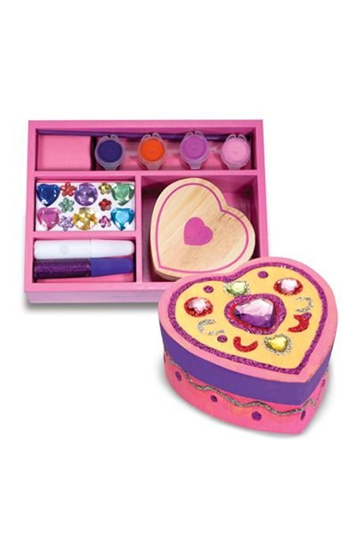Wooden Heart Box Craft Kit
