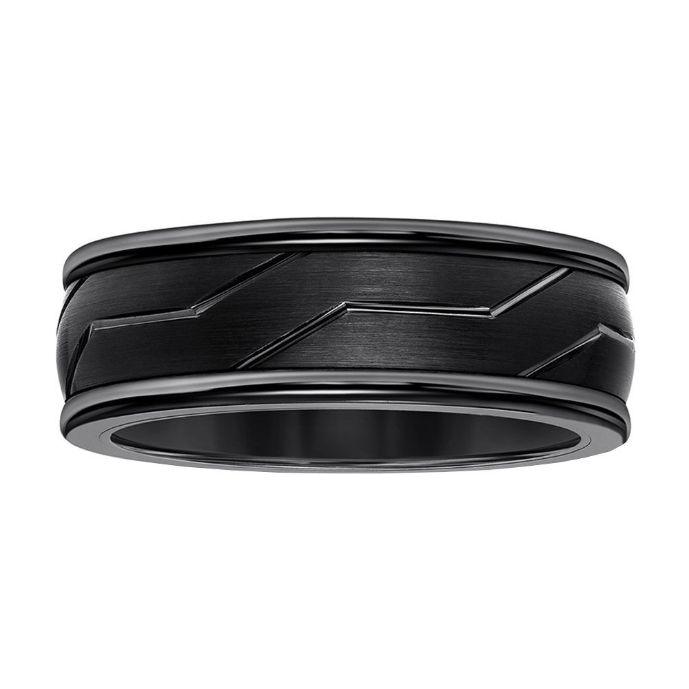 It is just an image of Kay Jewelers Black Tungsten Carbide 44-Millimeter Wedding Band for Men