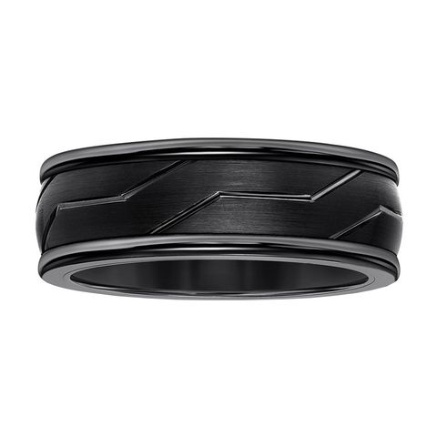 9a1d8ccc7 Kay Jewelers Black Tungsten Carbide 8-Millimeter Wedding Band for Men