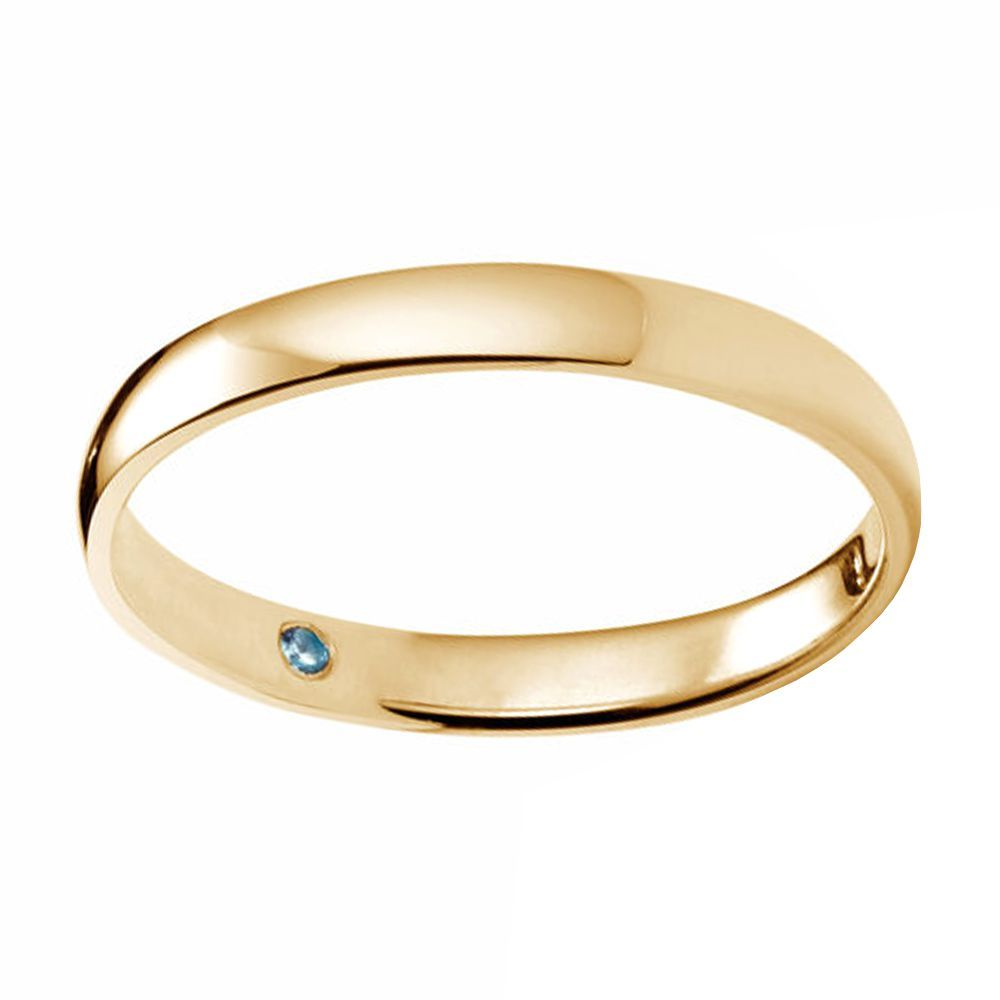 Wedding Ring For Men.Mr O K Classic Gold Round 3 Millimeter Wedding Band For Men