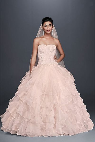 85ee9e42b20f 15 Pretty Pink Wedding Dresses 2019 - Blush and Pink Wedding Gowns