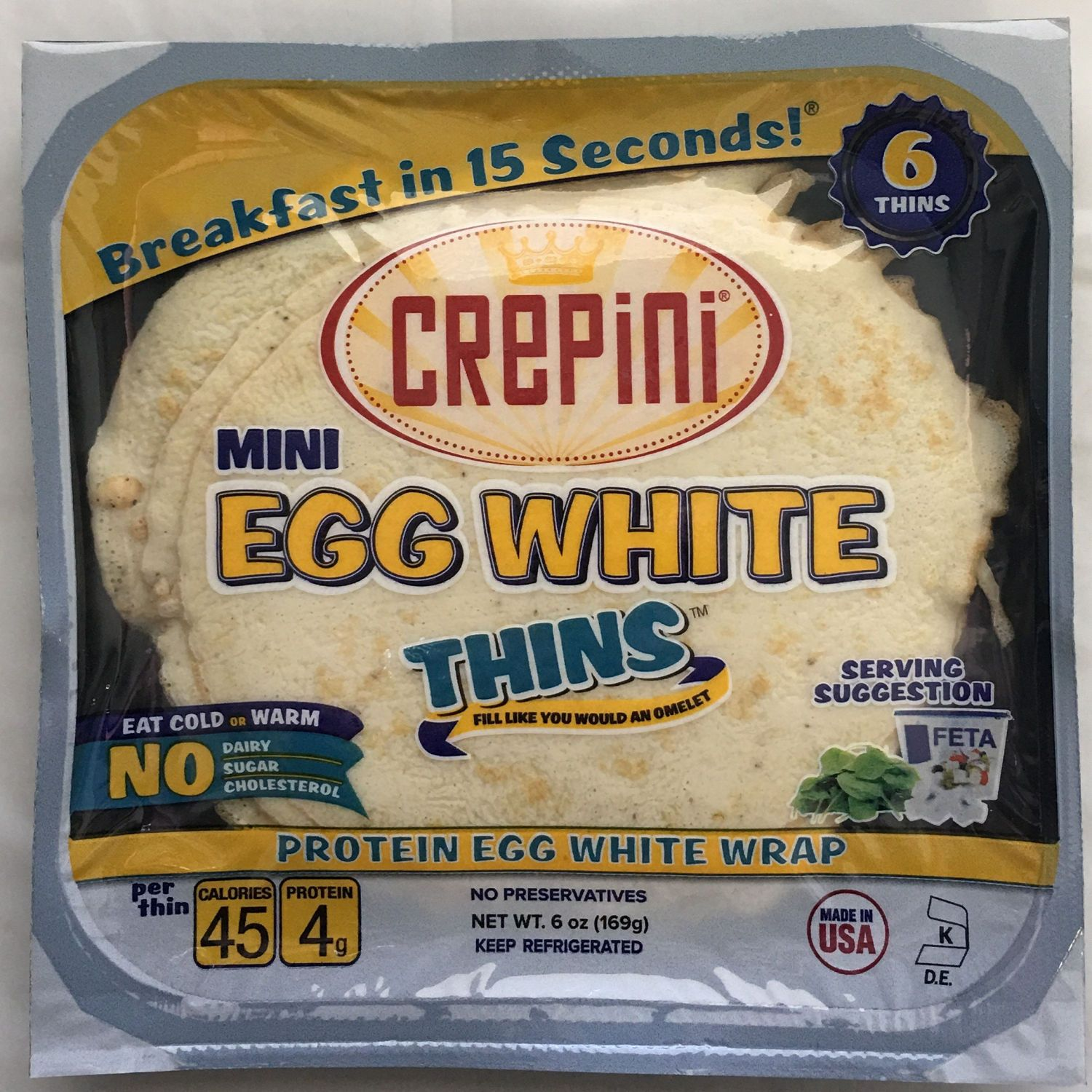 Walmart Is Selling Egg White Breakfast Wraps Crepini Egg White Thins