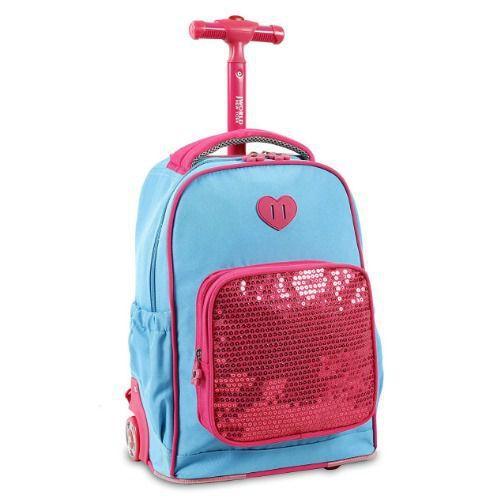 dca1a73e4a J World New York Sparkle Kids Rolling Backpack