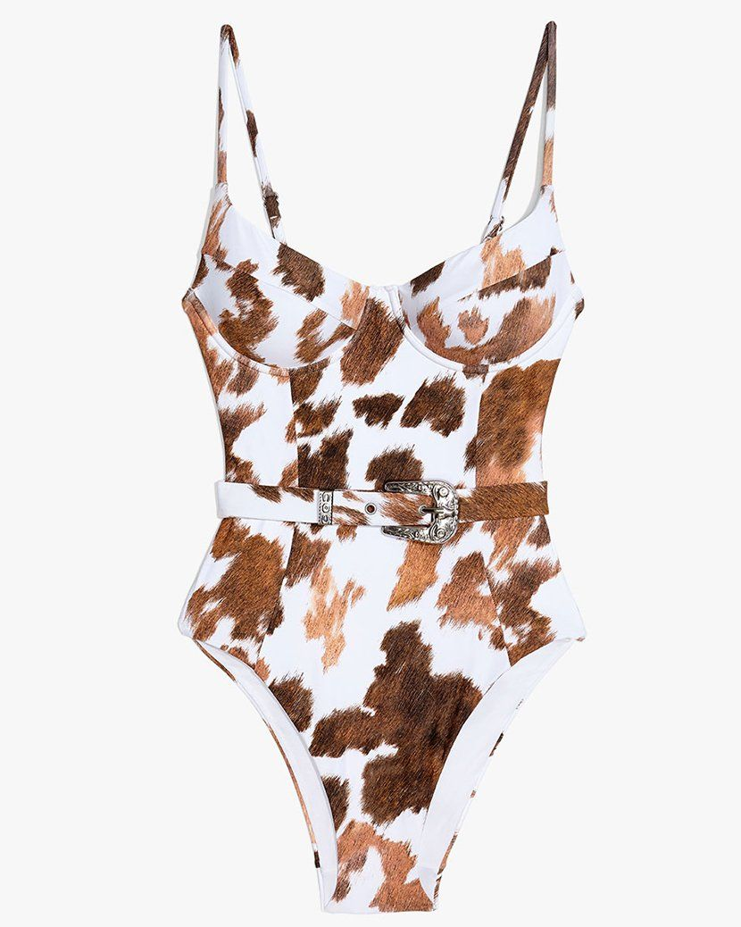 4e507649c0934 Kylie Jenner s Cow Print Swimsuit - Buy Kylie Jenner Cow Print One Piece