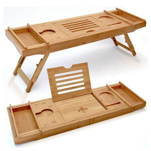 5 Of 15 Elite Creations Bathtub Caddy Laptop Bed Desk