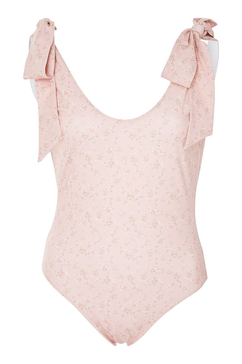 Best Pink One-Piece Posy One Piece Loveshackfancy $270.00 SHOP IT This swimsuit looks so sweet, it makes my teeth hurt. (You can thank the baby-pink floral print and shoulder bows for that.)