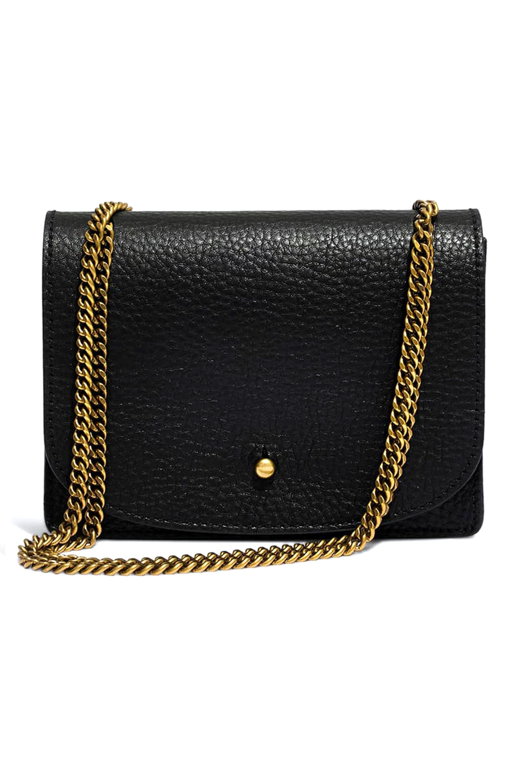 Myathle 10MM Width Iron Flat Chain Strap Handbags Replacement Chains for Wallet Clutch Satchel Tote Bag Length 47 Purse Chain Shoulder Crossbody Bags Gold Plated Hardware Chain Silver