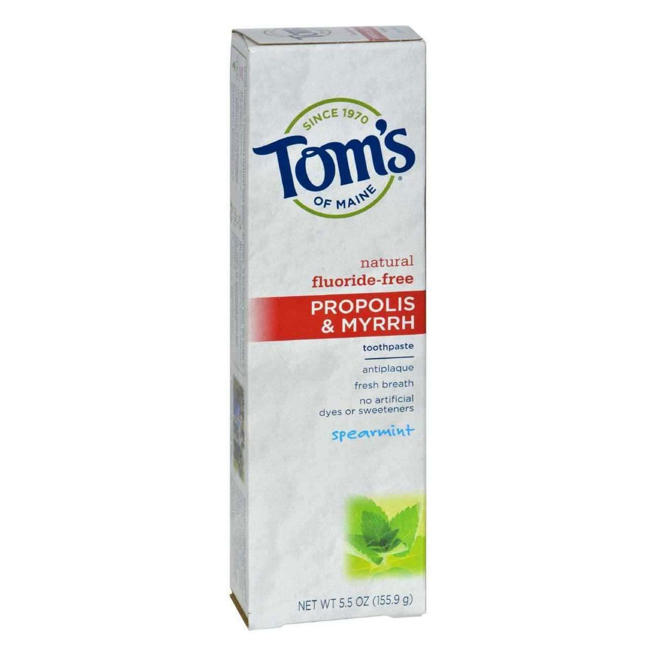 Best Natural Toothpaste With Baking Soda: Tom's of Maine Natural  Fluoride-Free Propolis & Myrrh Toothpaste