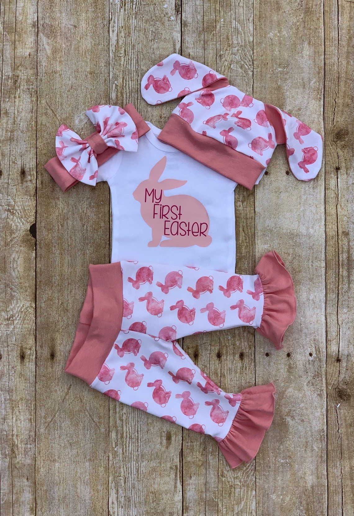 First Easter baby bodysuit 2019  Personalized Baby Girl Easter Baby Bodysuit  He Gave it All