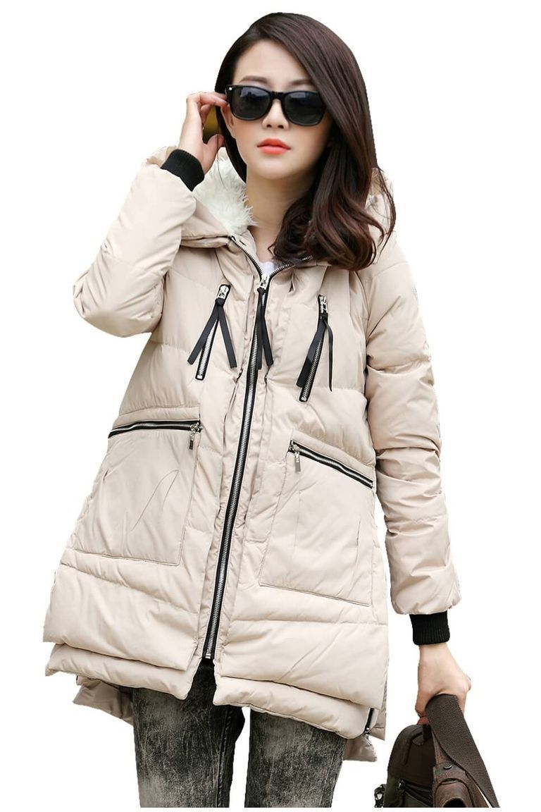 Coolred-Men Thick Outwear Zip-up Winter Keep Warm Trim-Fit Down Coat