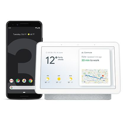Google Pixel 3 with Google Home Hub