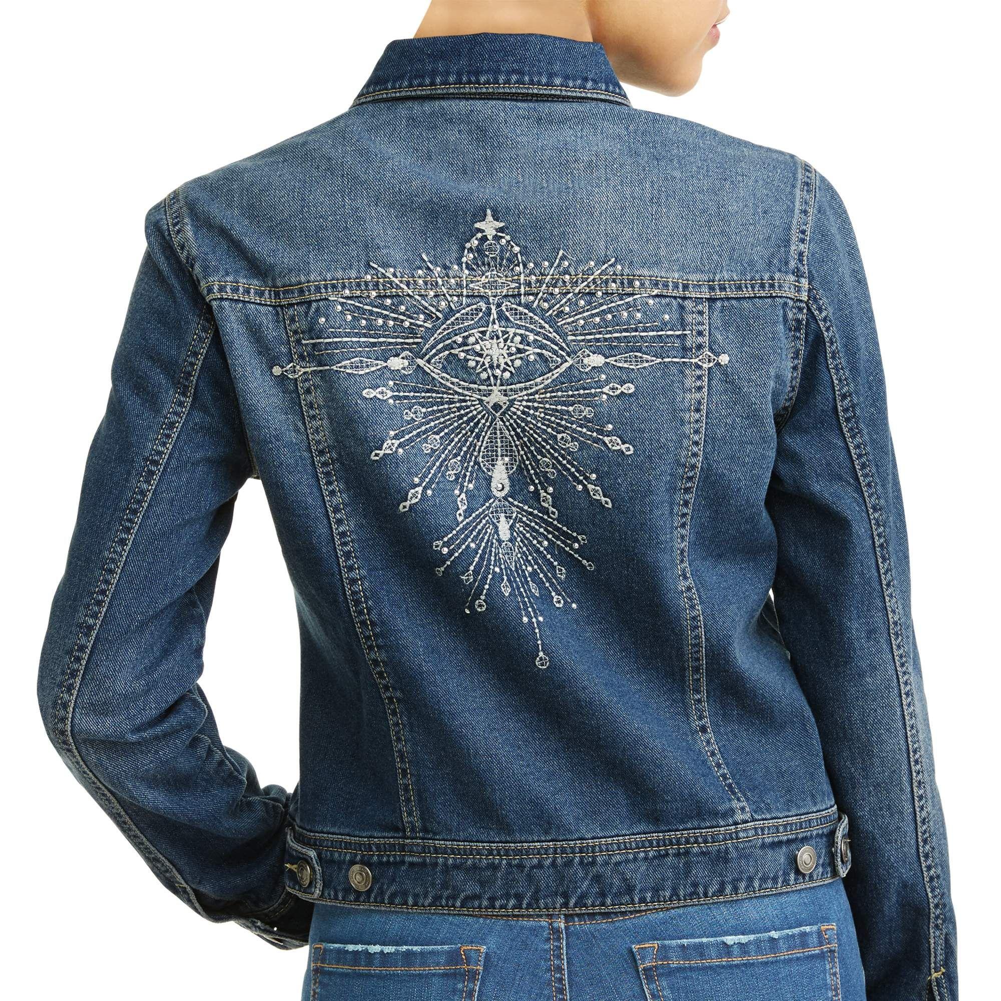 6f647604c0ff6 Angela Embroidered Evil Eye Denim Jacket. Angela Embroidered Evil Eye Denim  Jacket Women s (Medium Indigo Wash). Sofía Jeans by Sofía Vergara ...
