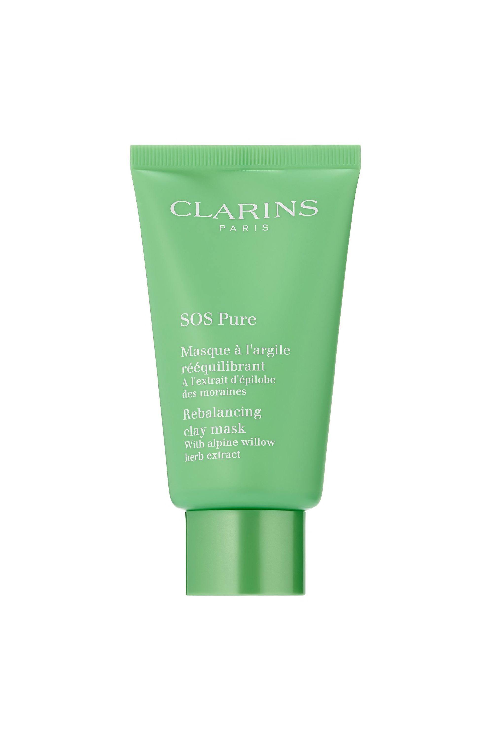 SOS Pure Rebalancing Clay Mask Clarins sephora.com $34.00 SHOP NOW This purifying face mask is ideal for oily or combination skin types because it reduces the appearance of pores with the help of both white and green clay. Natural ingredients like alpine willow herb also work to minimizes shine caused by oils and debris.