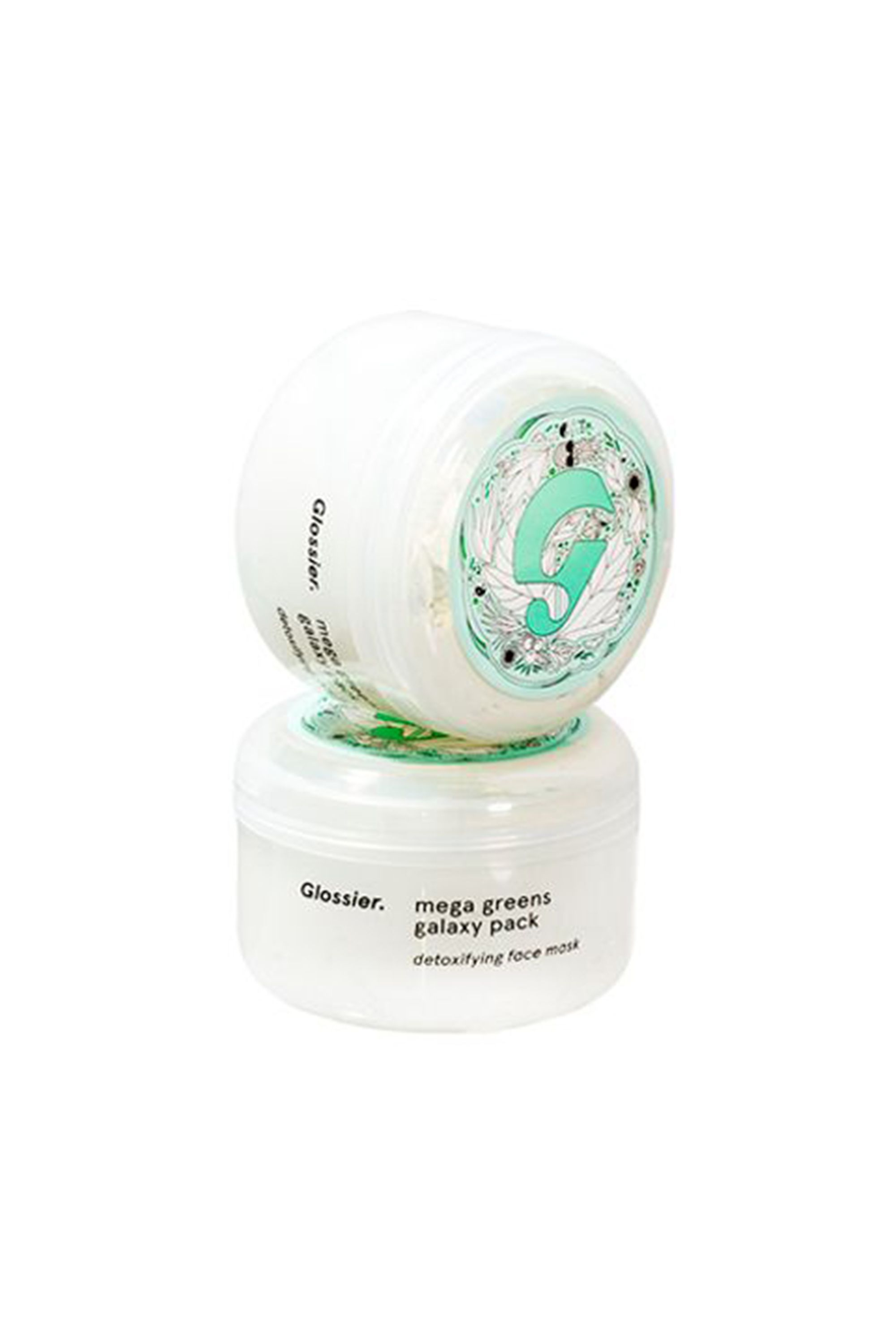 Mega Greens Galaxy Pack Glossier glossier.com $22.00 SHOP NOW Glossier's Mega Greens Galaxy face mask has both a creamy white clay to eliminate toxins and vitamin-rich leafy greens to clear up blemishes and prevent further breakouts from happening. It pairs best with Glossier's Moisturizing Moon mask.