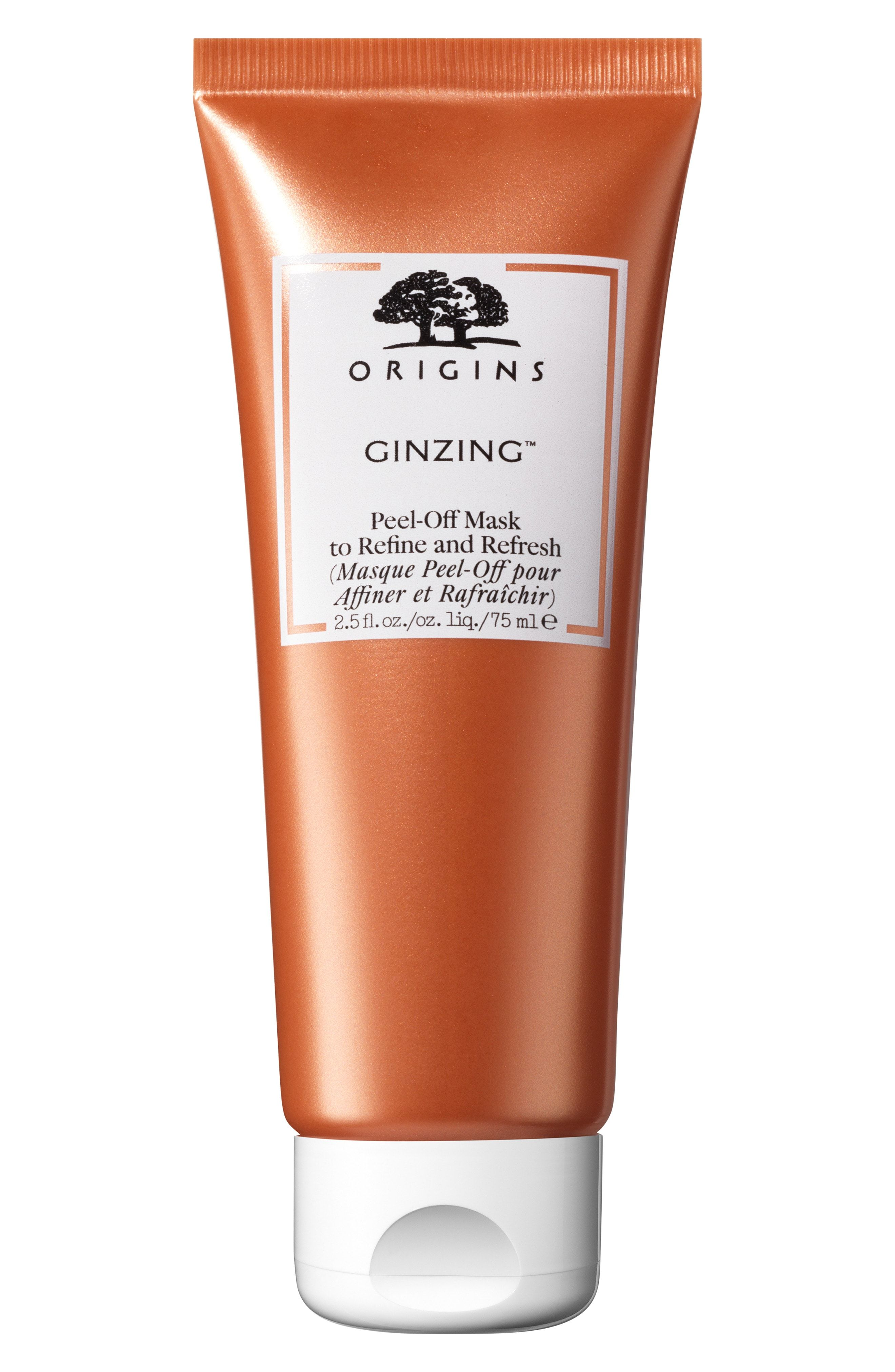 GinZing Peel-Off Mask Origins nordstrom.com $26.00 SHOP NOW Formulated with a refreshing mix of  coffee beans, panax ginseng, and fruit acid complex, Origins's GinZing Peel-Off Mask acts as the cure-all for dull, lifeless skin. The mask helps to smooth skin and shrink pores.