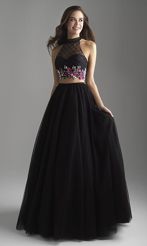 15d8b824a8 Best Two Piece Prom Dresses of 2019 – Stylish Crop Top Prom Dresses