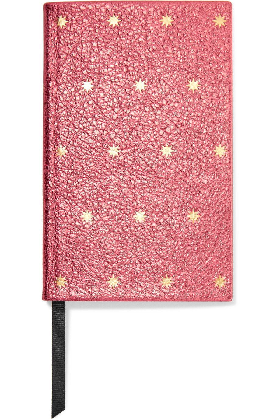 Metallic Printed Texture-Leather Notebook