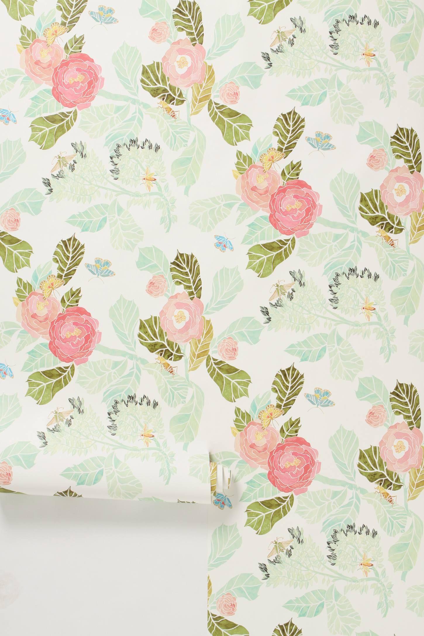 Watercolor Flora Wallpaper