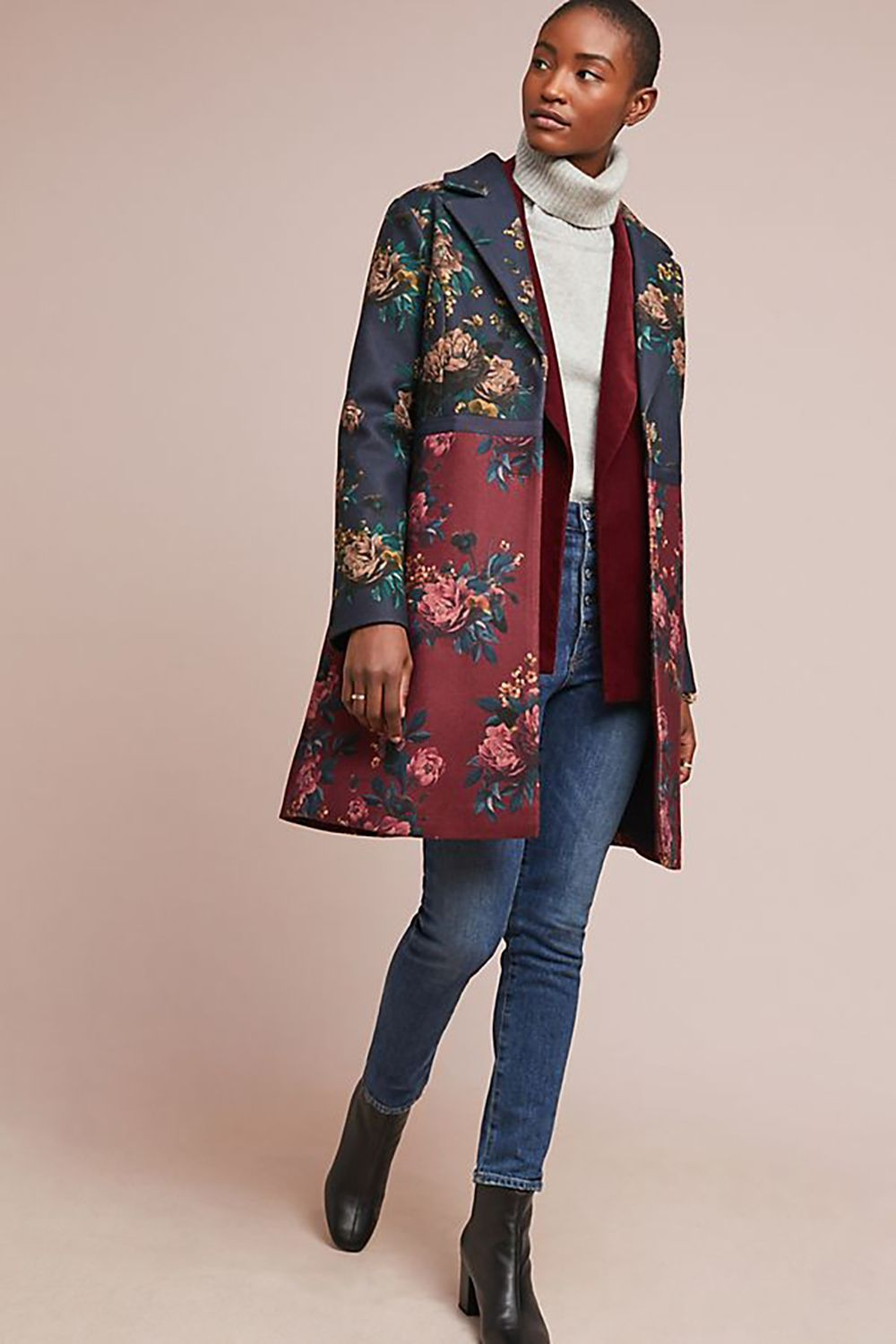 Feminine Floral Eva Franco Anthropologie Anthropologie $129.95 SHOP IT Thanks to good ol' global warming, spring always comes with that 50-degree wildcard. That's why this elegant floral coat exists.