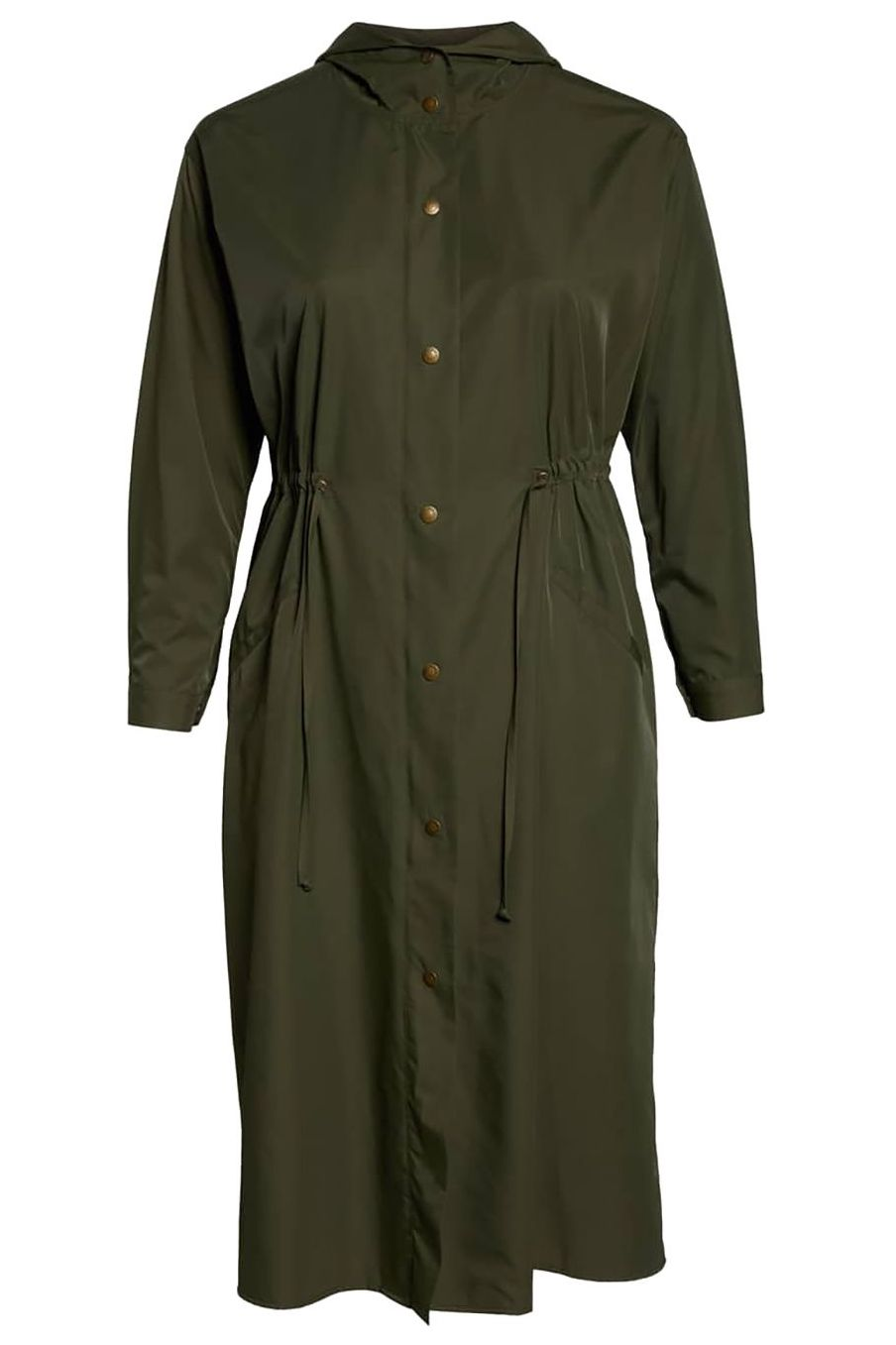 Waterproof Wonder Vince Camuto Nordstrom $164.00 SHOP IT Spring = rain showers. This waterproof jacket comes equipped with a hood and a flattering silhouette that will convince you to pull it out of the closet even when it's not pouring.