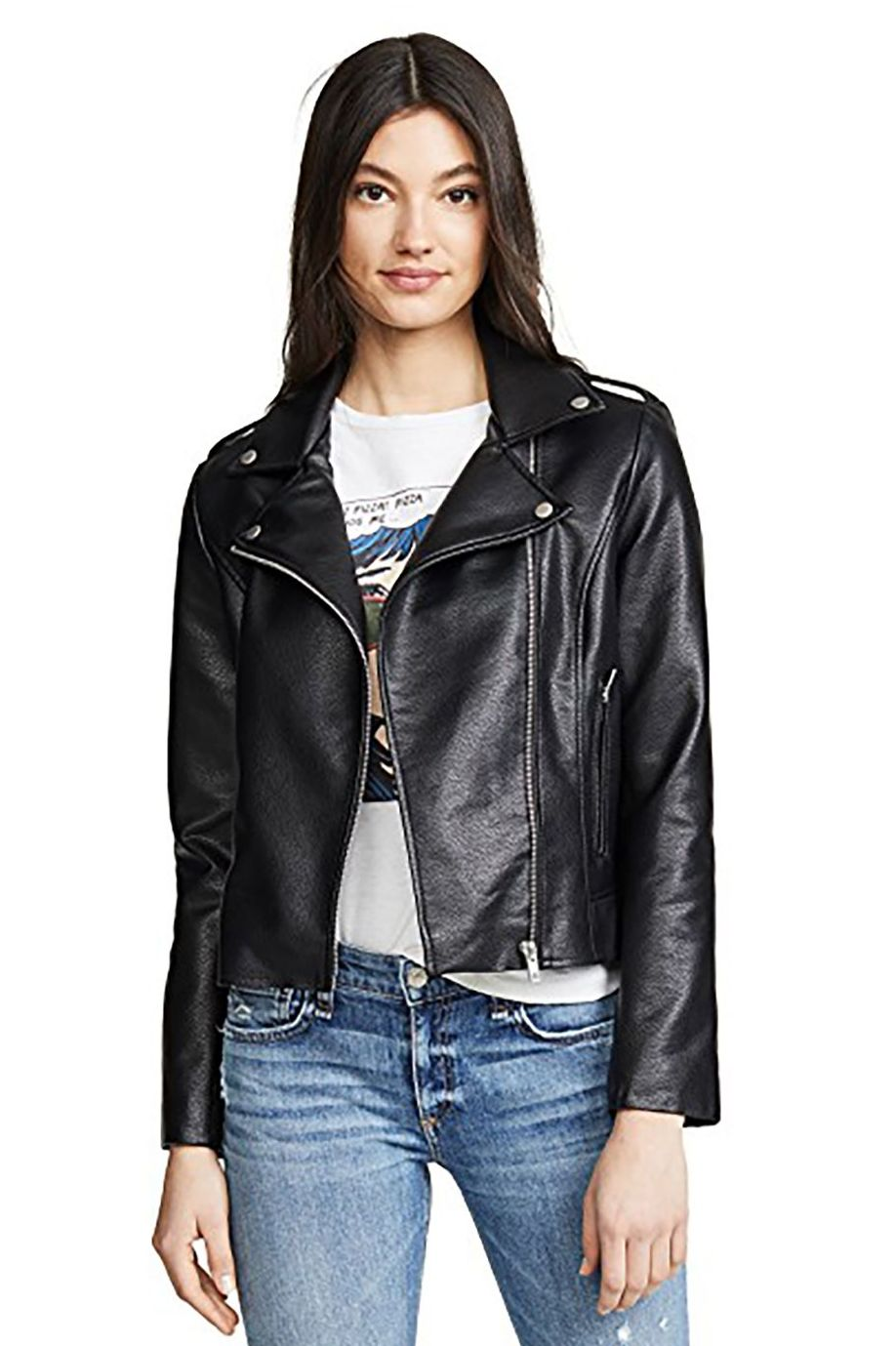 Leather Forever BB Dakota Shopbop $98.00 SHOP IT Leather jackets are year-round outerwear, and never go out of style . BB Dakota is notorious for its soft, affordable faux jackets like this one that looks way more expensive than it is.