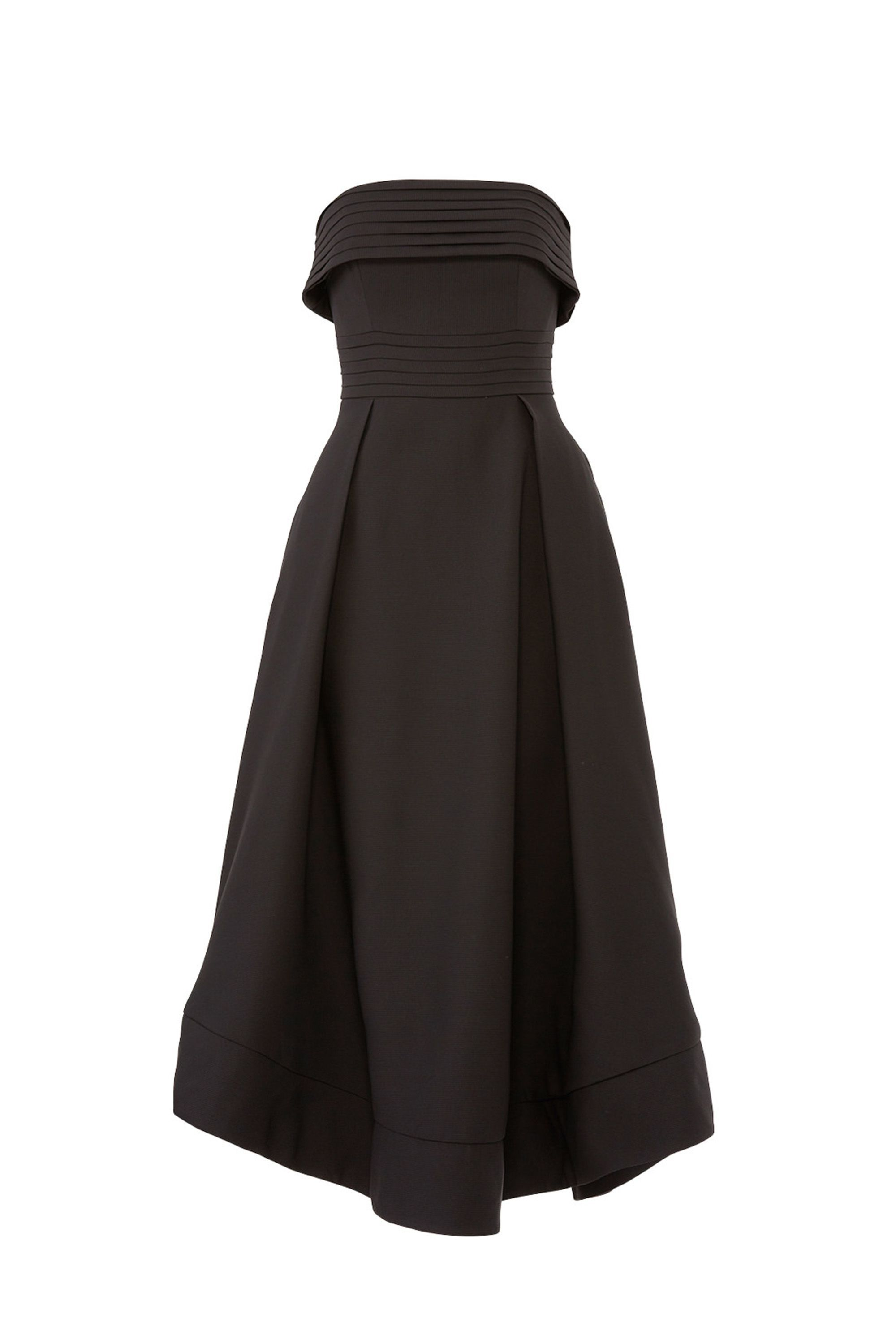 Visceral Strapless Gown C/meo Collective bloomingdales.com $132.00 SHOP NOW A black tie wedding requires a dress with a little bit of drama.