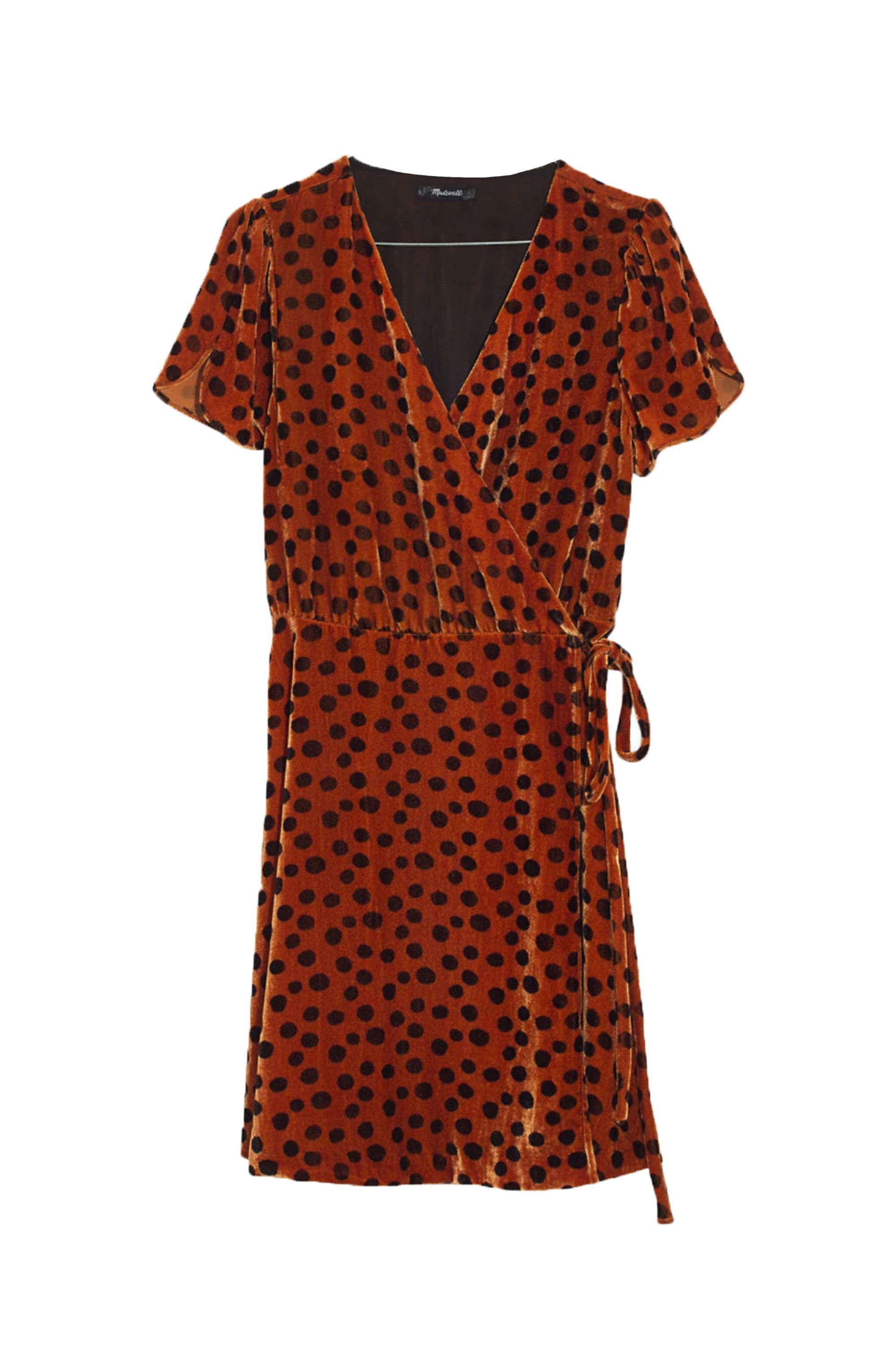 Velvet Wrap Dress Madewell madewell.com $89.99 SHOP NOW How good will this look with platform sandals?