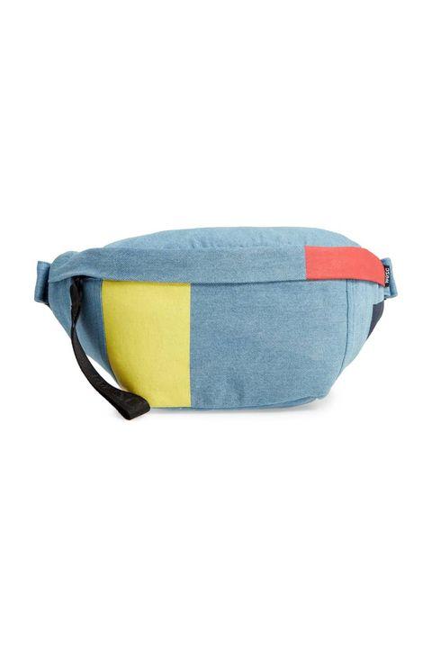 be22aa08828 1 Usher Colorblock Denim Belt Bag