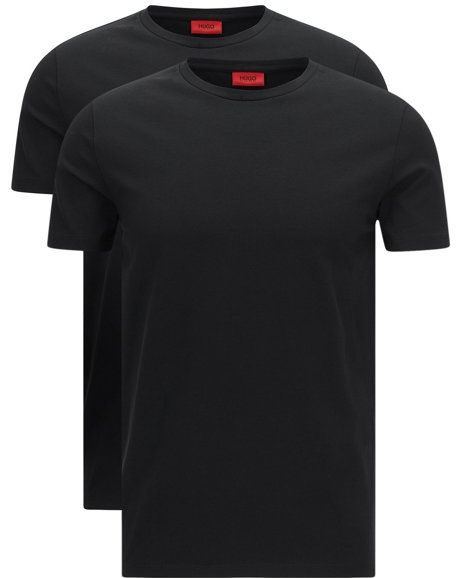 92ca935e5b Two-pack of crew neck T-shirts in stretch cotton by HUGO Man