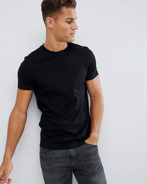 d5f8153c ASOS DESIGN organic t-shirt with crew neck in black