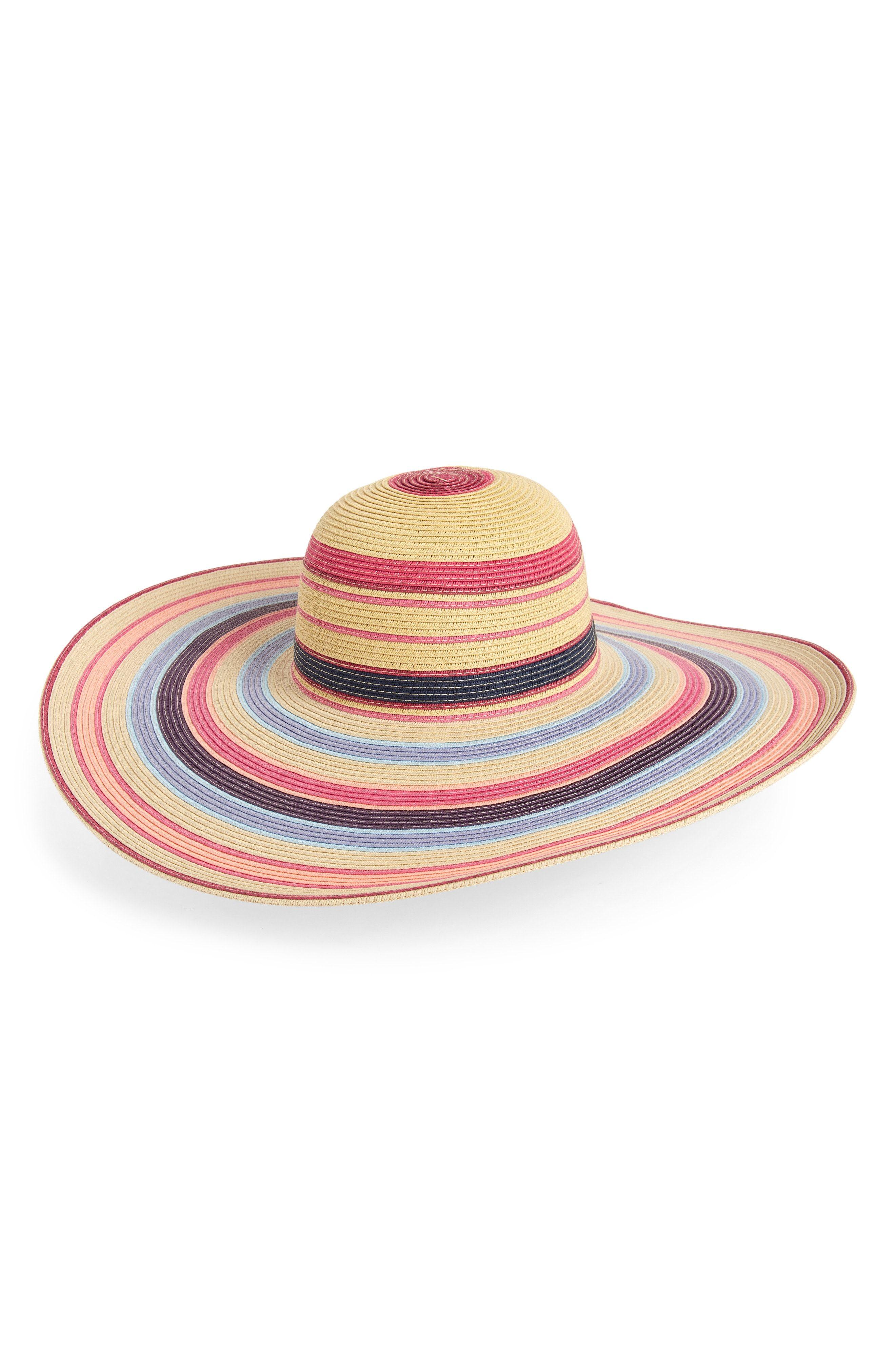 87969a9dd Ombré Stripe Floppy Straw Hat