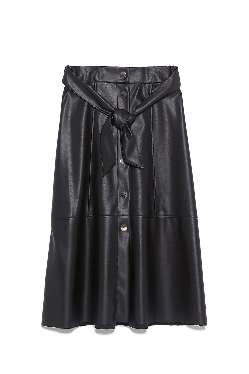 A Black Faux Leather Skirt Zara zara.com $39.90 SHOP IT On a scale of one to 10, 10 being I need this skirt, I'm a nine. (The only reason I'm not a full 10 is because I already have two leather skirts!)