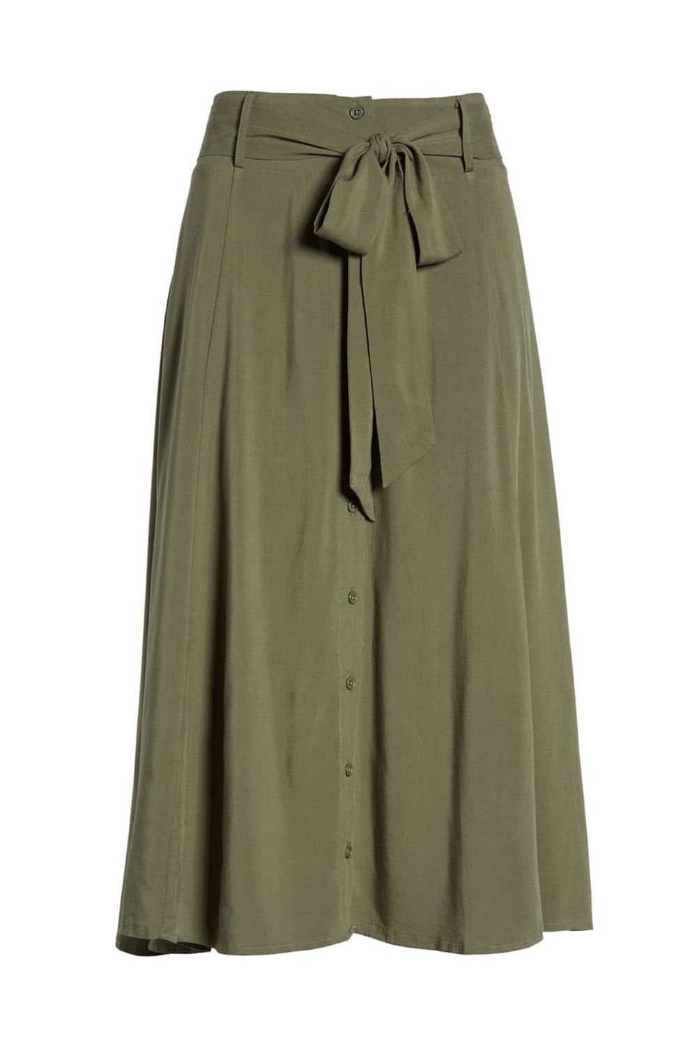 An Everyday Midi Skirt LOVE, FIRE nordstrom.com $52.00 SHOP IT An everyday skirt should be compatible with all your tops and shoes. Neutral colors, like this khaki green, are good additions to your spring wardrobe because they're a little more interesting than white and beige, but still versatile enough to wear with any color.