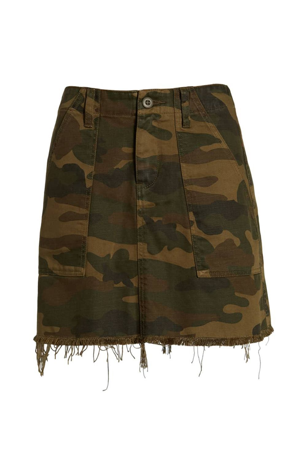 """A Camouflage Miniskirt BLANKNYC nordstrom.com $78.00 SHOP IT If your style muse is Bella Hadid or Ariana Grande, you'll appreciate a good camouflage skirt. The print says, """"I'm tough, but not totally unapproachable"""" and adds a few edgy points to your overall outfit."""