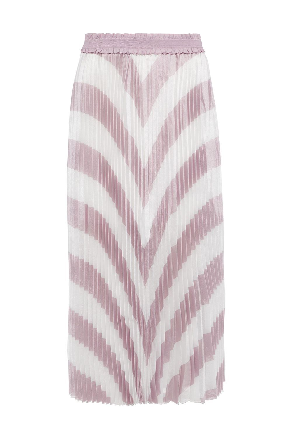 A Pleated Woven Skirt Maje theoutnet.com $129.00 SHOP IT This Maje skirt is unlike any of the other options on this list, which is a good thing if you're looking for that special piece. It has pleats, an iridescent sheen, and a lovely soft lavender color that's easy on the eyes.