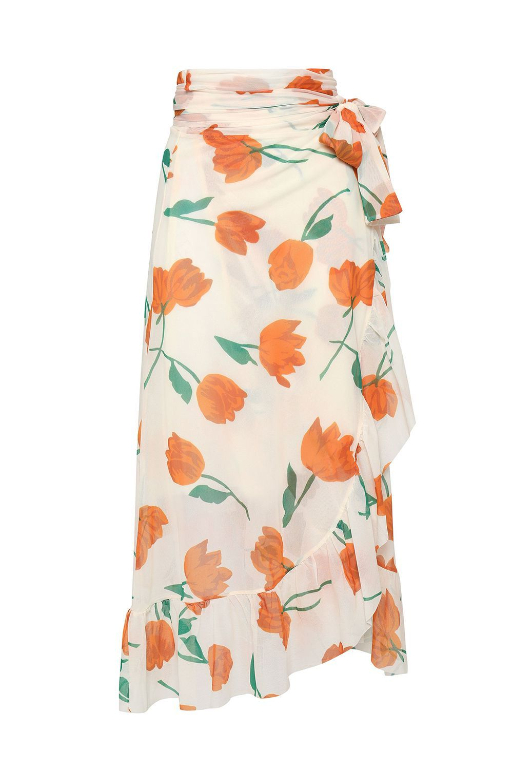 A Floral Wrap Skirt Ganni theoutnet.com $84.00 SHOP IT If you're dying to own a piece by Ganni, you're in luck. This tulip printed wrap skirt is on sale for $84 from $169.