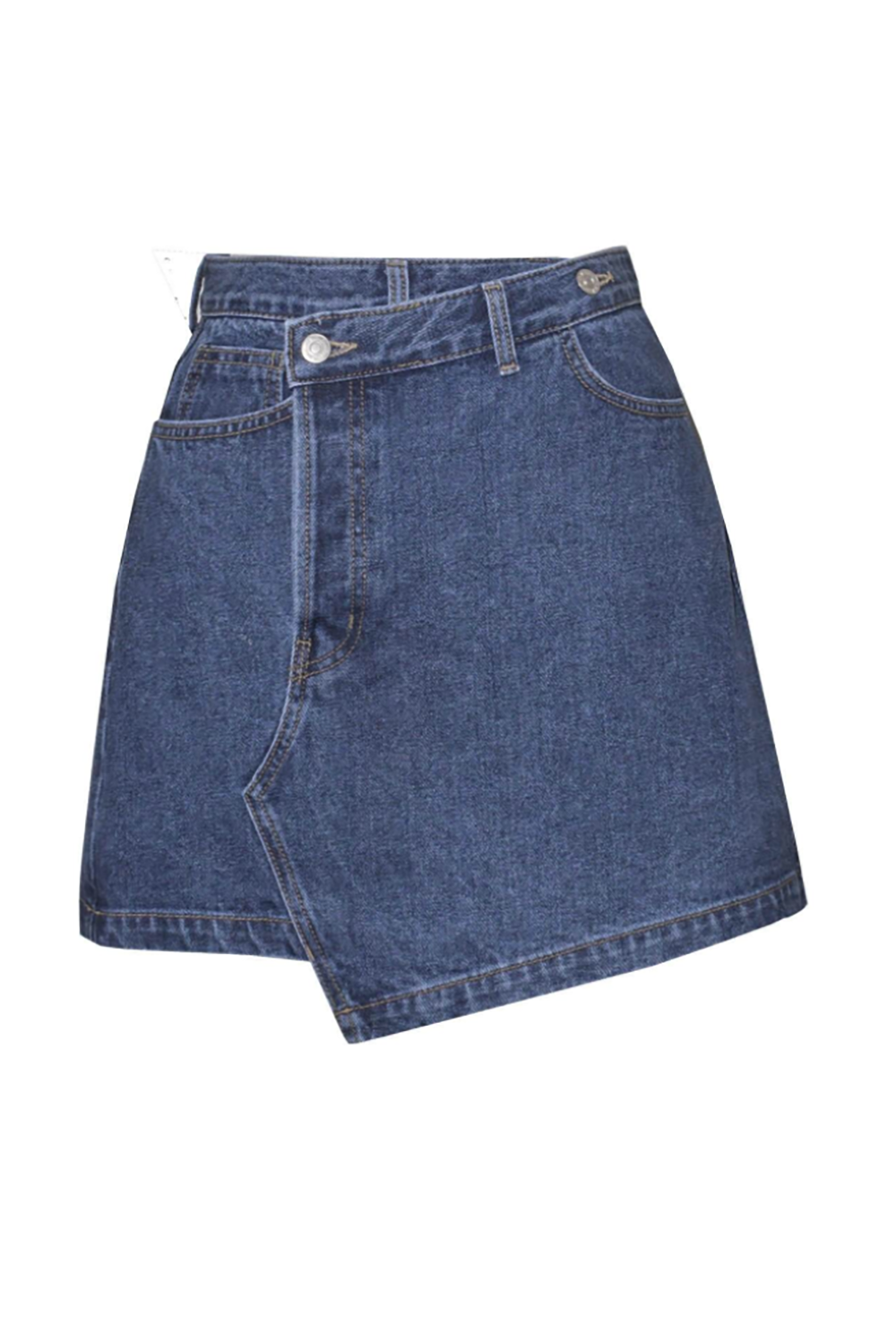 A Deconstructed Miniskirt Pixie Market pixiemarket.com $99.00 SHOP IT Instead of buying another denim miniskirt with a regular button and cut, pick up this deconstructed one from Pixie Market. The slight shift in asymmetrical details instantly give this item a cool factor.