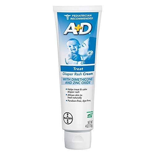 A+D Zinc Oxide Diaper Rash Treatment Cream