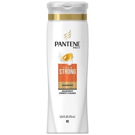 Pantene Pro-V Full & Strong Body Building Shampoo walgreens.com $4.79 SHOP NOW For Dimitris Giannetos , who has worked with pop stars like Britney Spears, Camila Cabello, and Meghan Trainor, he wants the hair to work as little as possible, which means avoiding the need for heat or styling products to create volume. He loves that the Pantene Pro-V Full & Strong Shampoo gives hair volume, even when it air dries, and you can't beat the drugstore price.